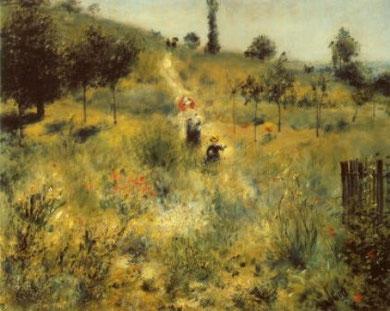 RENOIR - Sentiero scosceso nell'erba alta