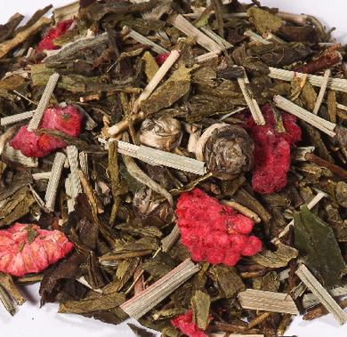 thé blanc framboise violette les thés de caroline
