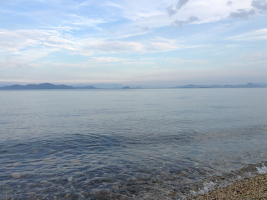Lake Biwa beach
