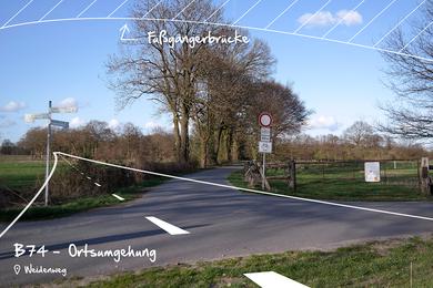 Brückenbau zur B74n in einem der wertvollsten Feuchtgebiete Norddeutschlands