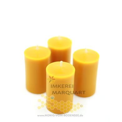 Adventskranz-Kerzen aus Bienenwachs