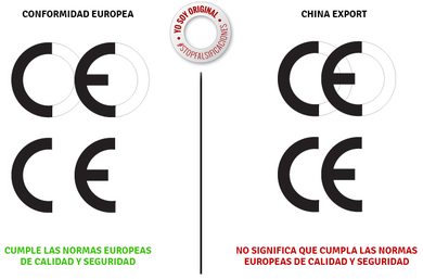 Es importante diferenciar el marcado europeo de la marcha china