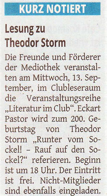 Westdeutsche Zeitung, 11. September 2017