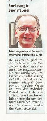 Westdeutsche Zeitung, 21. Dezember 2015