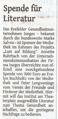 Westdeutsche Zeitung, 14. September 2016