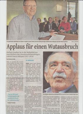 Westdeutsche Zeitung, 26. September 2015