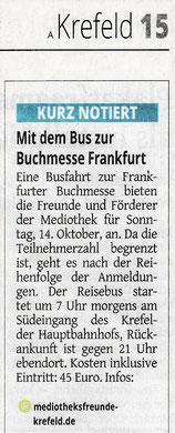 Westdeutsche Zeitung, 25. September 2018