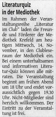 Westdeutsche Zeitung, 14. November 2018
