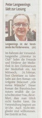 Westdeutsche Zeitung, 20. Februar 2016