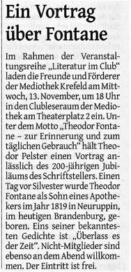 Westdeutsche Zeitung, 11. November 2019