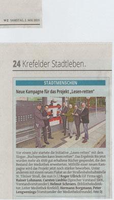 Westdeutsche Zeitung, 02. Mai 2015