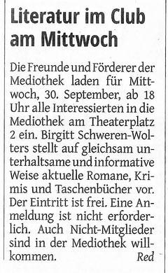 Westdeutsche Zeitung, 28.09.2020