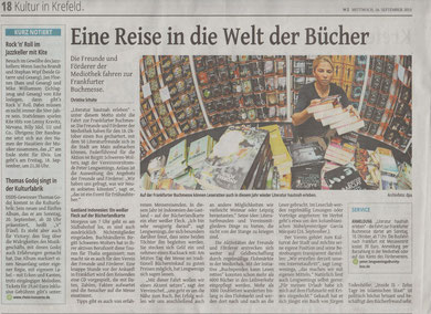 Westdeutsche Zeitung, 16. September 2015