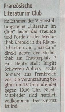 Westdeutsche Zeitung, 13. April 2016