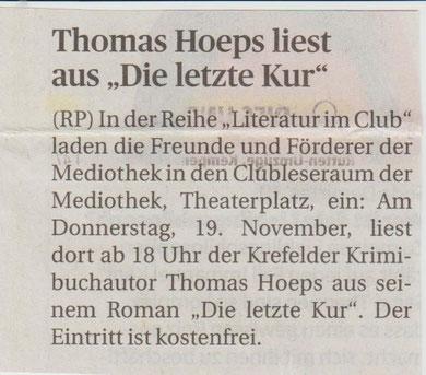 Rheinische Post, 17. November 2015