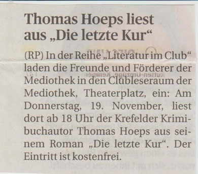 Rheinische Post, 17. November 2015