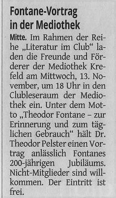Westdeutsche Zeitung, 13. November 2019