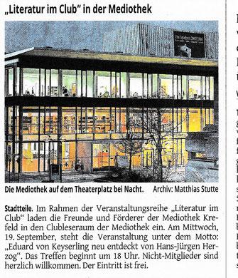 Westdeutsche Zeitung, 12. September 2018