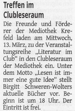 Westdeutsche Zeitung, 08. März 2019
