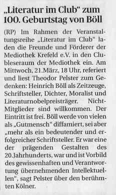 Rheinische Post, 16. März 2018