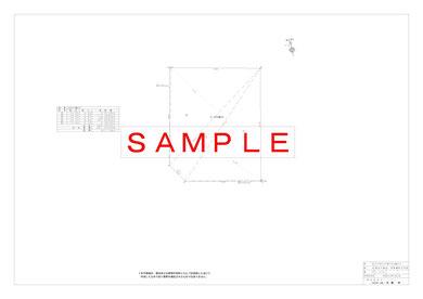 求積図 前図の敷地の三斜求積図