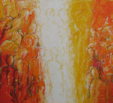 Befreiung, Acryl auf Leinwand, 180x200cm, 2007