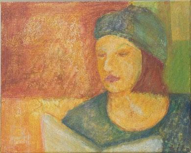 Zita, 2002 _____ 40x50 Acryl, Papier auf Leinwand