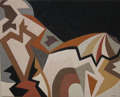 Bivouac; 100 x 81 cm