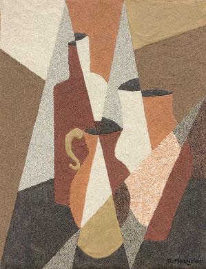 Nature morte cubiste au pichet; 27 x 35 cm