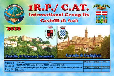 Attivazione 1RP/C.AT. QSLM. 1RP005 Luigi box.1 cp.10078 Venaria (TO) il 19/20/21/Agosto 2010