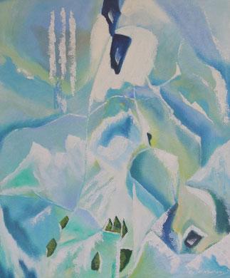 Ewiges Eis, 50 x 60 cm. Öl auf Leinwand