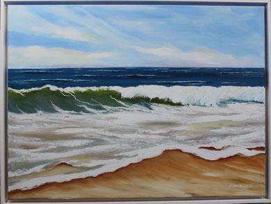 Meereswelle 60 x 80 cm. Öl auf Leinwand