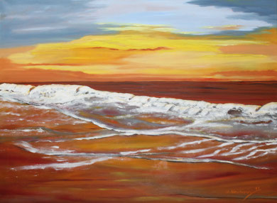 Meeresmotiv 1, Öl auf Leinwand  60 x 80 cm.