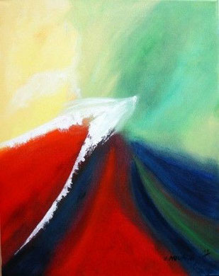 Abstrakt 2, Öl auf Leinwand 40 x 50 cm,