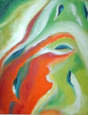 Abstrakt 11, Öl auf Leinwand 24 x 30 cm