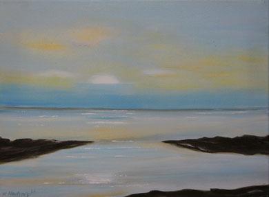 Ruhe am Meer, 30 x 40 cm Öl auf Leinwand