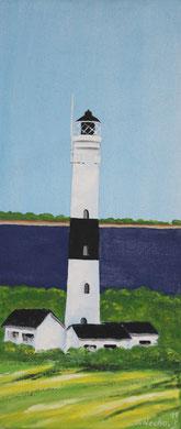 Leuchtturm Sylt 30 x 40 cm. Öl auf Leinwand