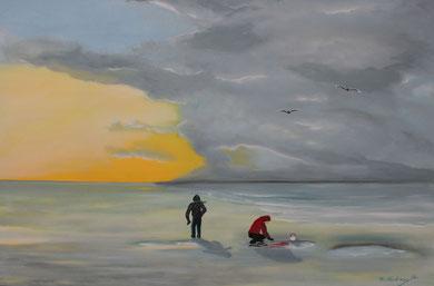 Wattenmeer, 70 x 90 cm, Öl auf Leinwand