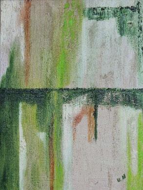 Abstrakt auf Sand 30 x 40 cm, Öl auf Leinwand