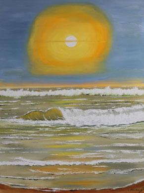 Abendsonne 60 x 80 cm. Öl auf Leinwand