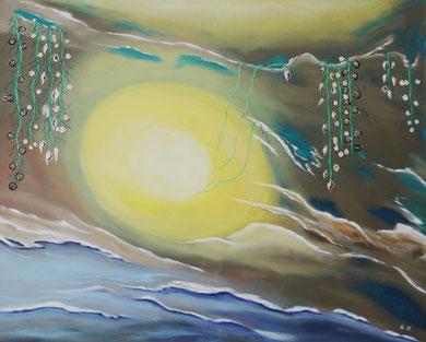 Lichtquelle 100 x 80, Öl auf Leinwand
