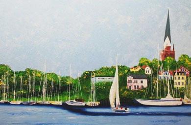 Flensburg, 100 x 120 cm. Öl auf Leinwand