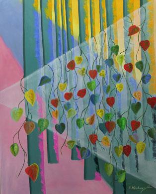 Im Farbenwald, 80 x 100 cm, Öl auf Leinwand