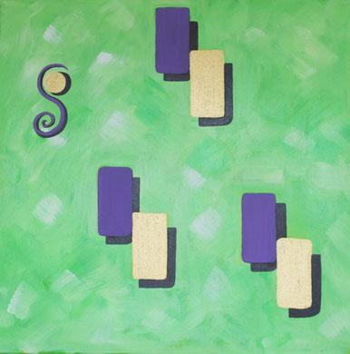 Acrylbild, 70 x 70 cm. 1