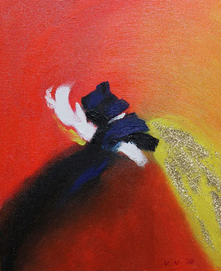 Abstrakt 10, Öl auf Leinwand 24 x 30 cm.