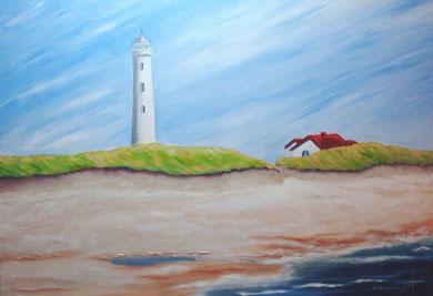 Leuchtturm, 70 x 100 cm, Öl auf Leinwand