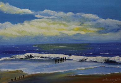 Meeresmotiv 2, Öl auf Leinwand 50 x 70 cm,