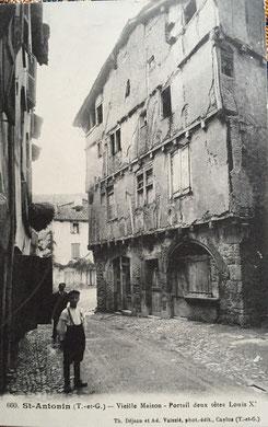 Maison de l'Amour avant destruction, Saint Antonin Noble Val (82)