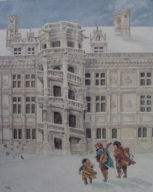 Blois, escalier François 1er