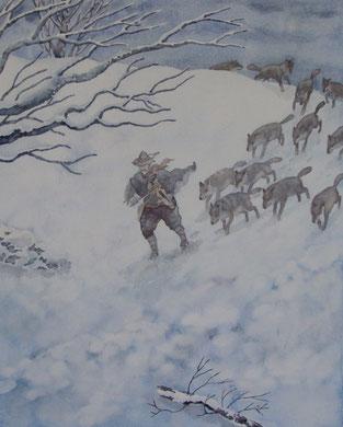 les loups ensorcelés-50x70